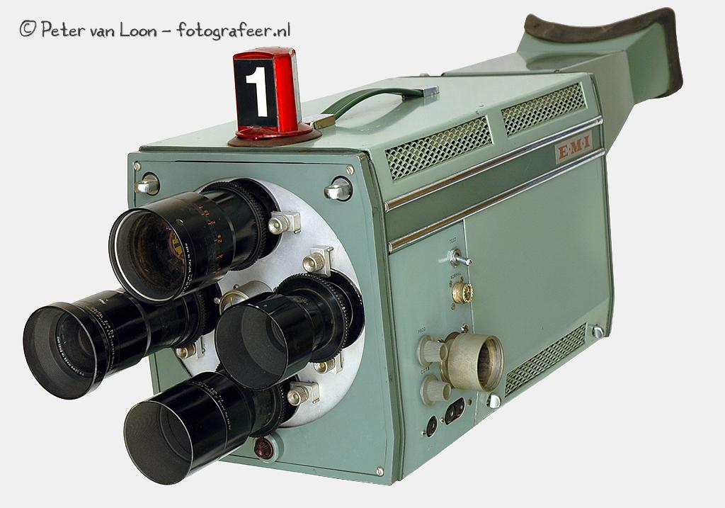 TV camera met 4 vaste lenzen